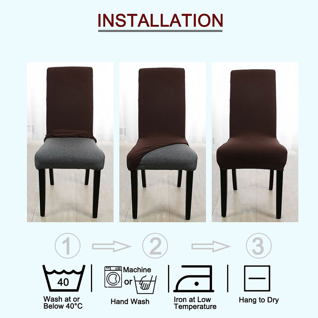 housse chaise a dossier haut elasthanne long dos de chaise de salle a manger