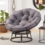 Better Homes Gardens Papasan Chair With Fabric Cushion Charcoal Gray Brickseek
