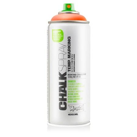 Get Montana Can ORANGE Chalk Spray Paint 400ml Temp Marking Eco-Friendly Aerosol - $17.23