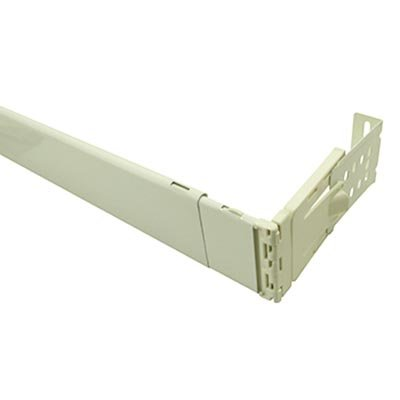 2 1 2 inch dauphine wide pocket curtain rod 48 to 84 inch adjustable width white