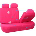 Fh Group Floral Embroidery Design Airbag Compatible And Split Bench Seat Covers Pink Walmart Com Walmart Com