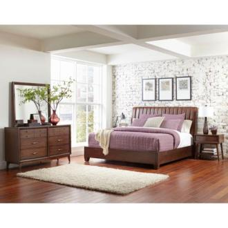 Ryder King size Leather Sleigh Bed   Walmart com Ryder King size Leather Sleigh Bed
