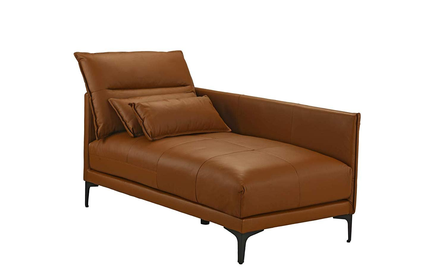 mid century modern living room leather chaise lounge camel brown walmart com
