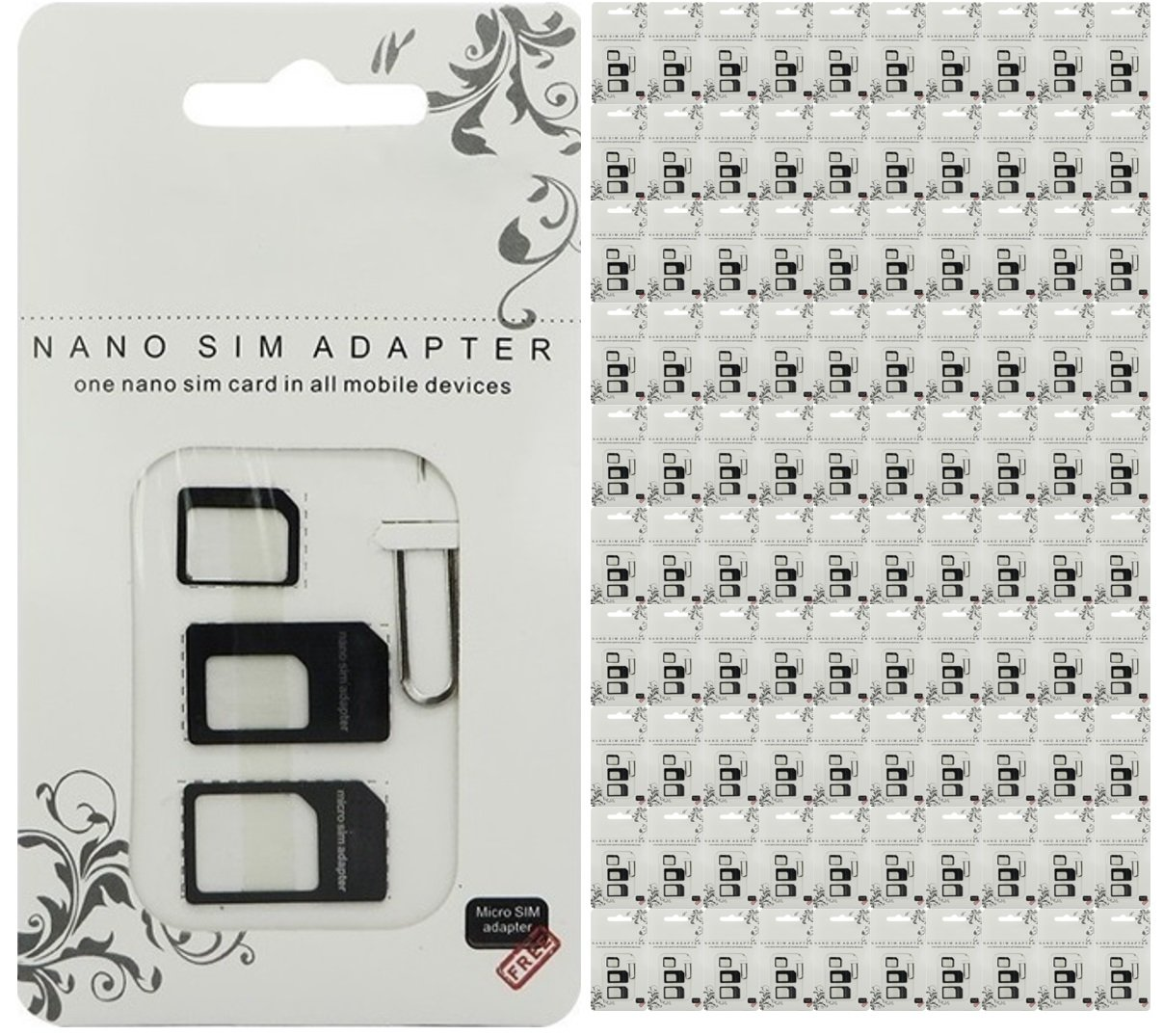 4 In 1 Sim Card Adapter Set Nano To Micro Or Standard Wholesale 100 Pack