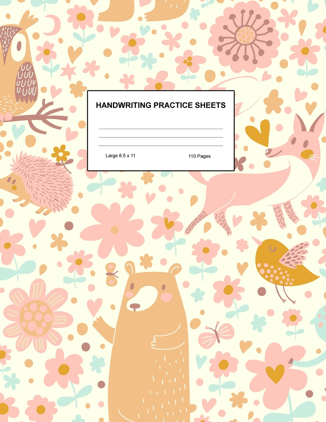 Handwriting Practice Sheets Cute Blank Lined Paper