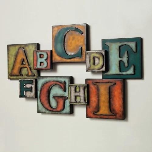 Letters Metal Wall Art