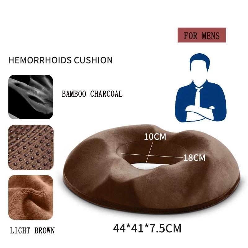 hemorrhoid treatment donut tailbone cushion for hemorrhoids prostate cushion pregnancy cushion comfort foam hemorrhoid pillow walmart com