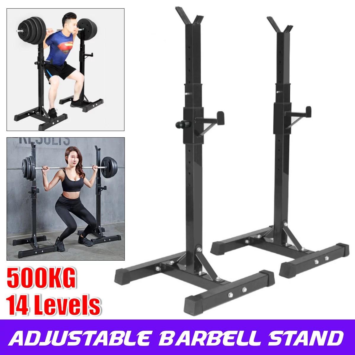 40 66 inch adjustable portable squat power rack weight bench press barbell rack stand holder gym walmart com