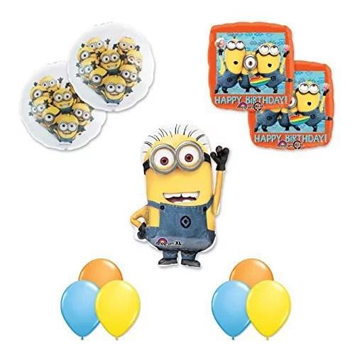 Despicable Me 2 Minions 11 Pc Happy Birthday Party Balloons Decorations Supplies Walmart Com Walmart Com