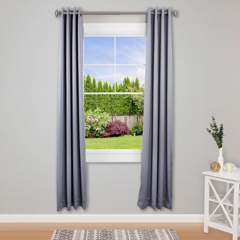 kenney mission 1 premium decorative window curtain rod 48 86 pewter