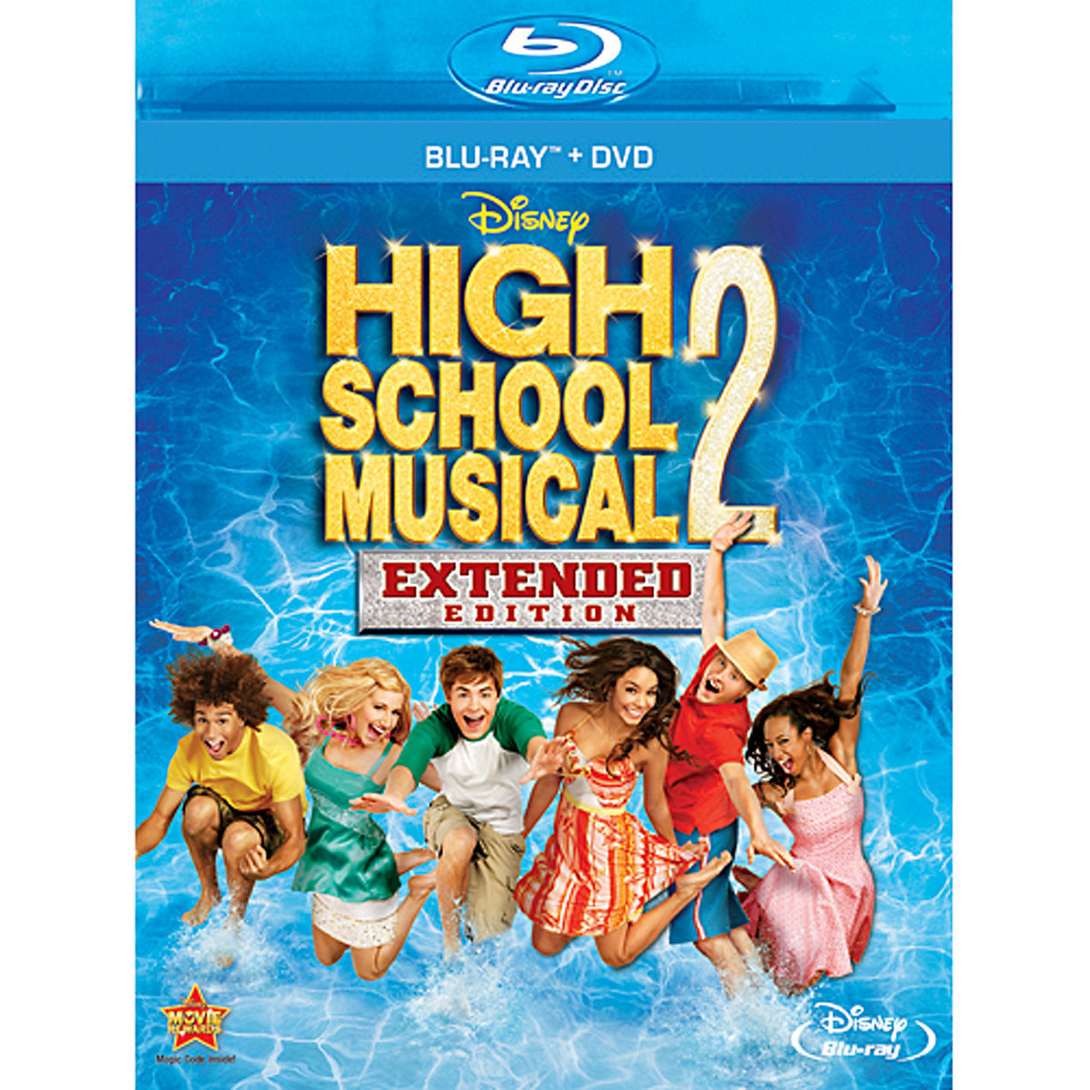 High School Musical 2 Extended Edition Blu Ray Dvd
