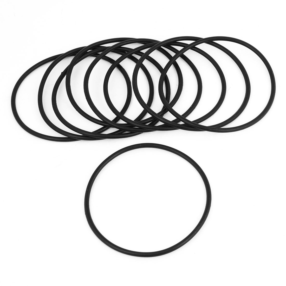 9 Pcs 80mm Outside Dia 3mm Thick Filter Rubber O Ring Seal