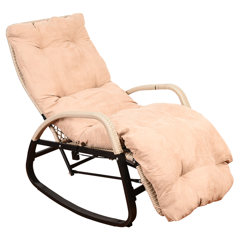 Sundale Outdoor Indoor Wicker Rattan Rocking Chair with Cushion Zero     Sundale Outdoor Indoor Wicker Rattan Rocking Chair with Cushion Zero  Gravity Lounge Chair Vintage Recliners with