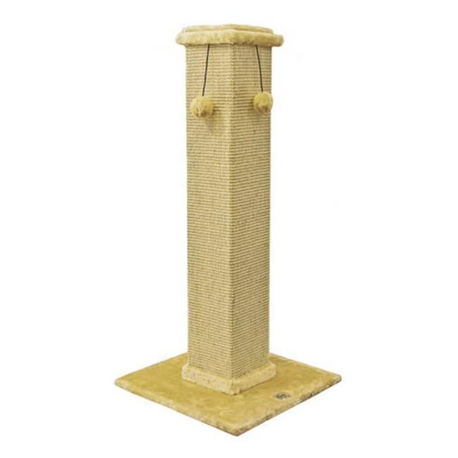 Go Pet Club Cat Tree Furniture 35 in. High Obelisk - Beige