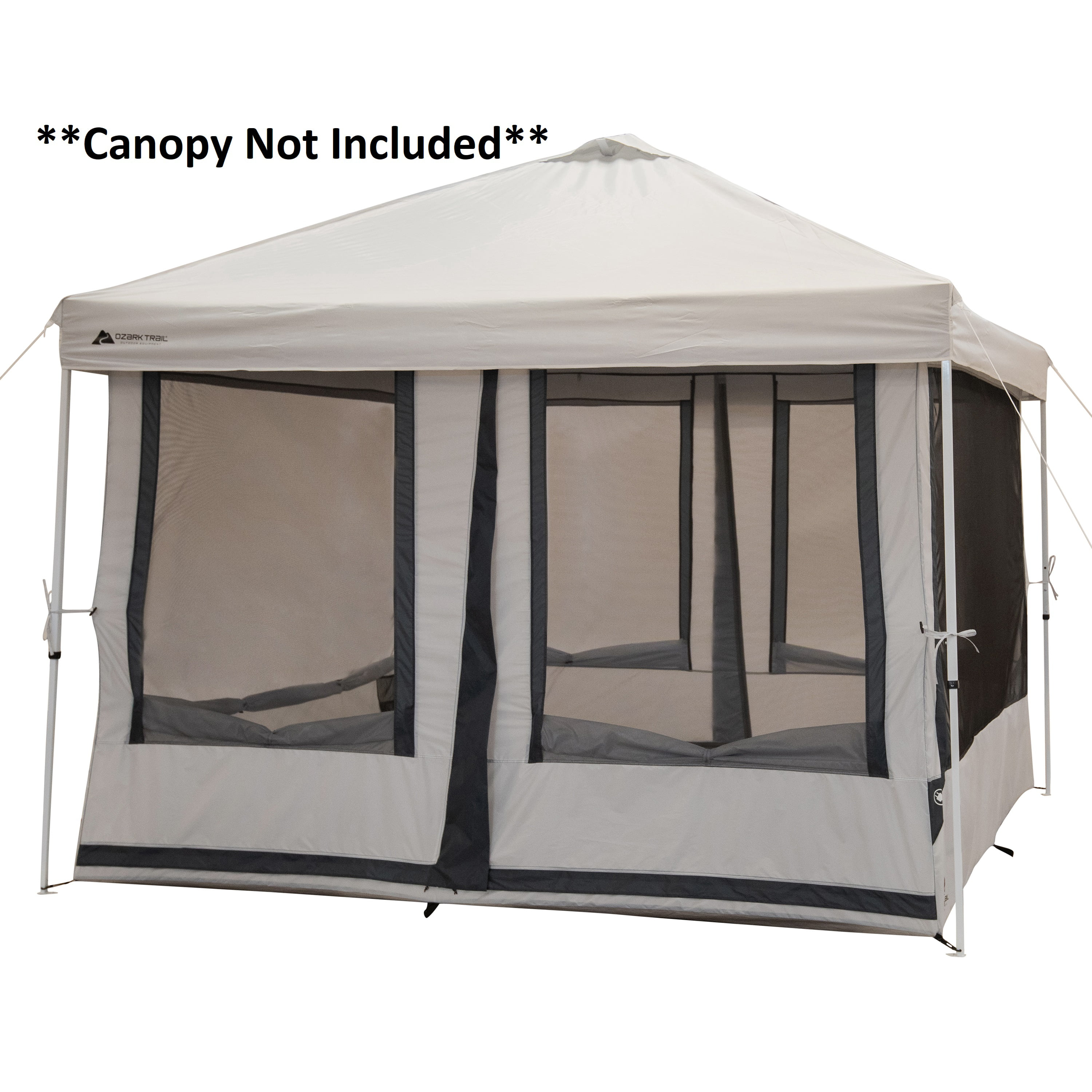 ozark trail 7 person 2 in 1 screen house connect tent with 2 doors