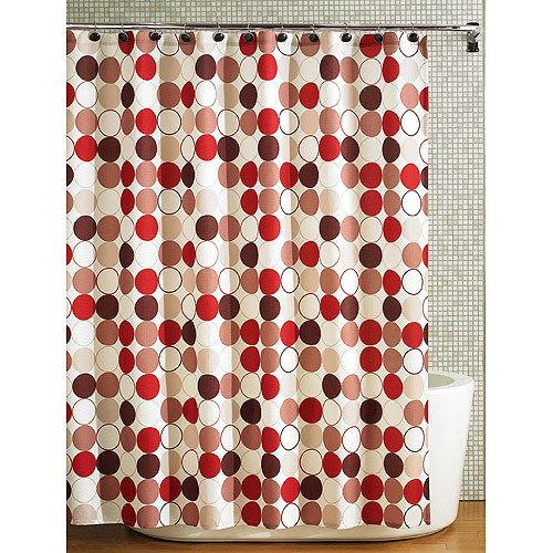 hometrends red brown fabric shower curtain 1 each