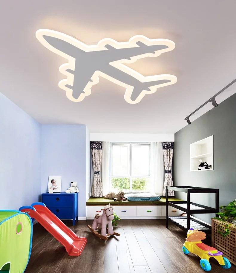 Modern Chandeliers Kids Room Aircraft Ceiling Lamp Simple Creative Child Bedroom Cartoon Illumination Light Acrylic Chandelier Lighting Fixture With Remote Walmart Com Walmart Com