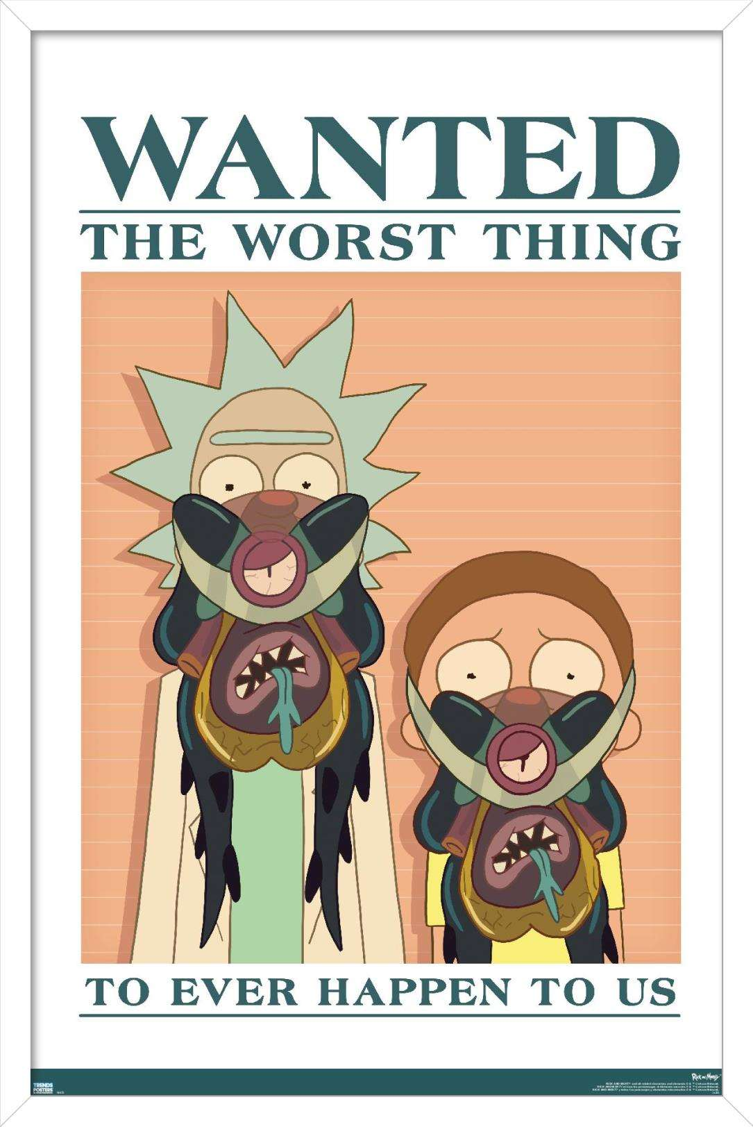 rick and morty wanted poster