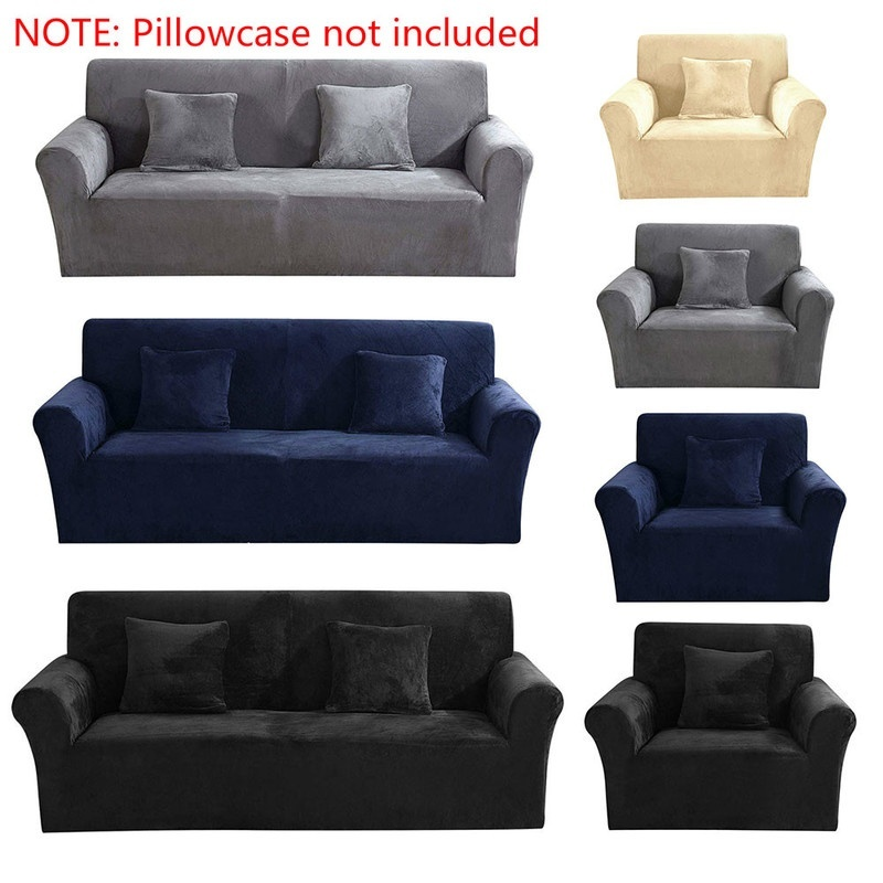1 2 3 seaters thick plush recliner sofa covers sofa cover soft couch slipcovers