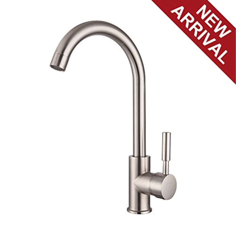 lordear best modern 360 degree swivel stainless steel single lever one hole brushed nickel bar sink faucet cold hot mixer kitchen sink faucet