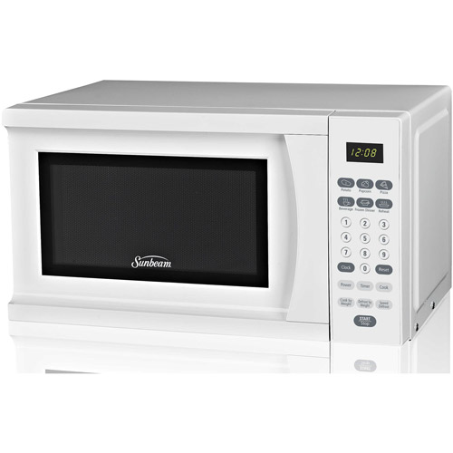 sunbeam 0 7 cu ft microwave oven white