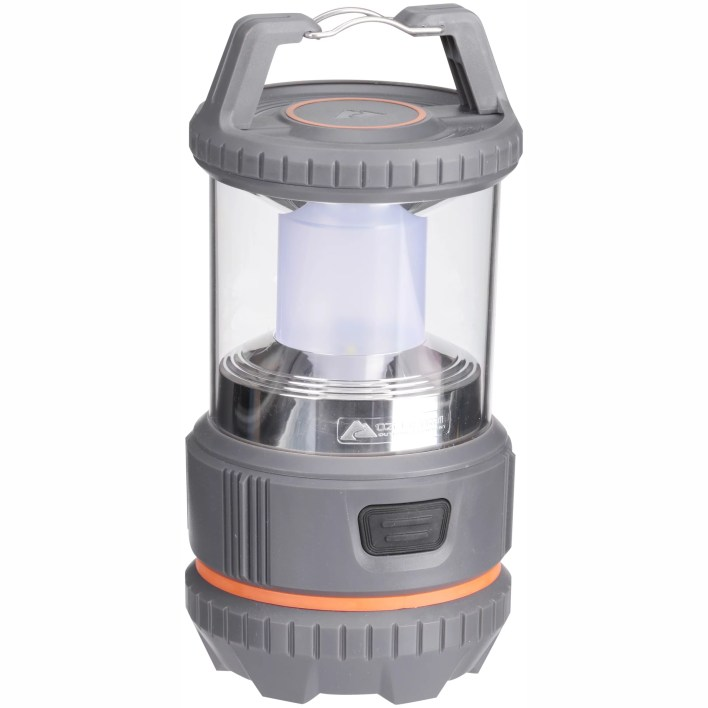 Cheap Camping Equipment While In A Budget- this Ozark trail 400 lumens LED lantern is great to use at night.