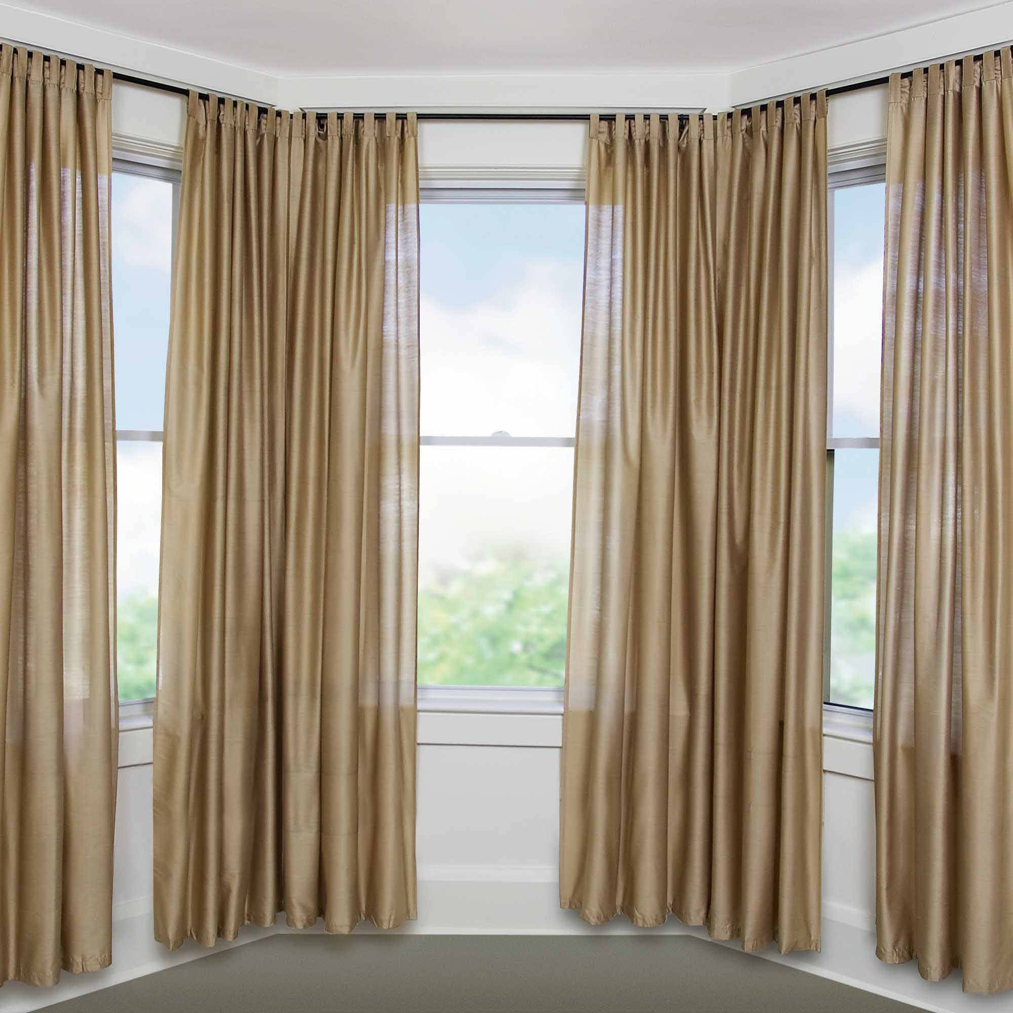 walmart bay window curtain rod