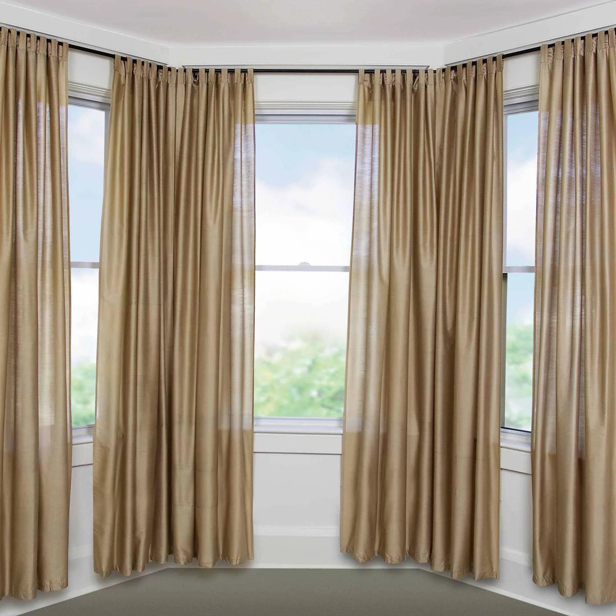 Bay Window Adjustable Curtain Rod For Windows 5 8 Diameter Walmart Com Walmart Com