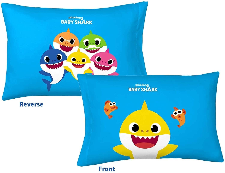 baby shark reversible pillowcase for kids 20 x 30 inch 1 piece pillow case only walmart com