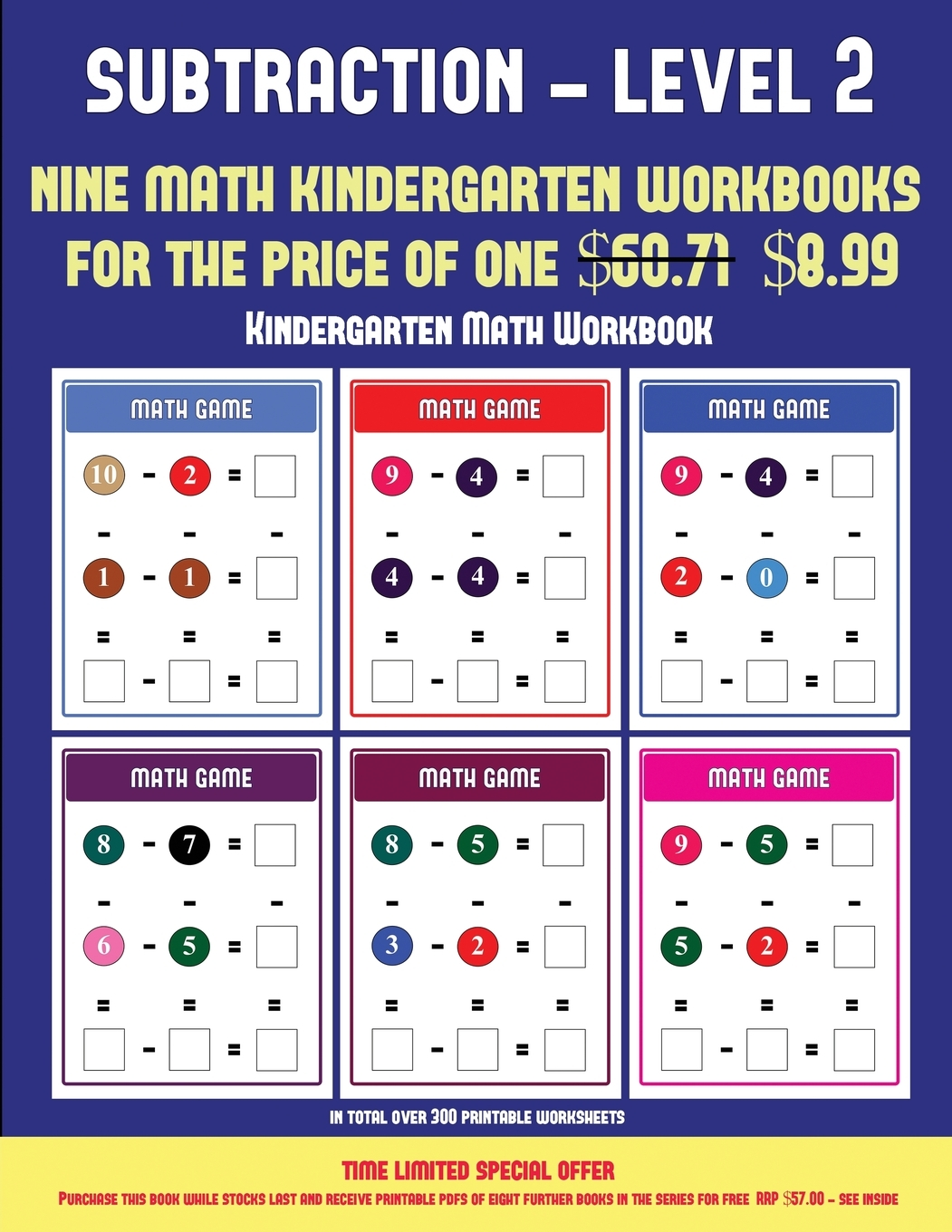 Kindergarten Math Workbook Kindergarten Subtraction