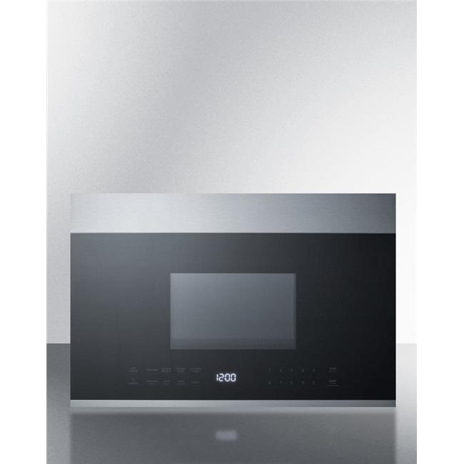 summit appliance mhotr24ss 24 in wide over the range microwave black stainless steel