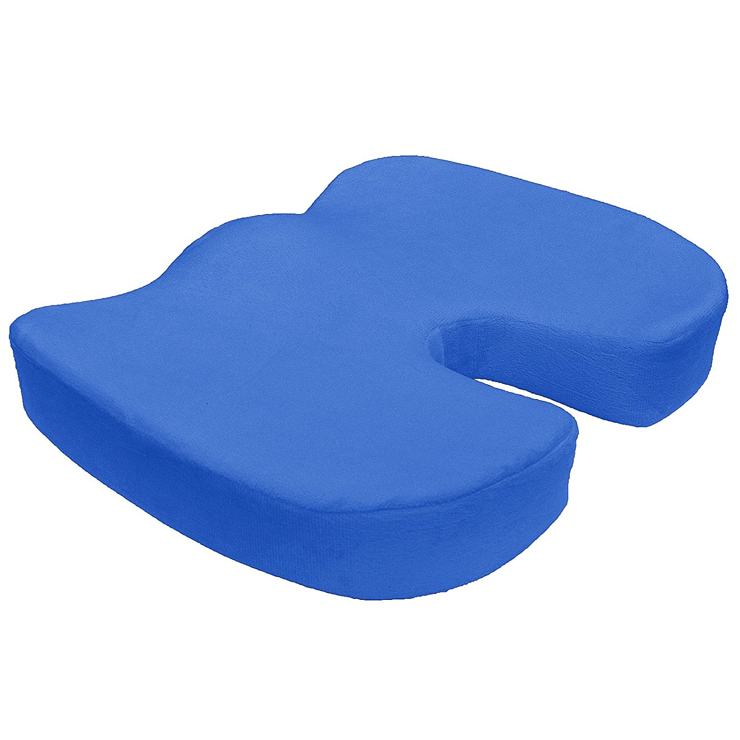 bookishbunny memory foam coccyx seat cushion support pillow sciatica pain relief car office chair