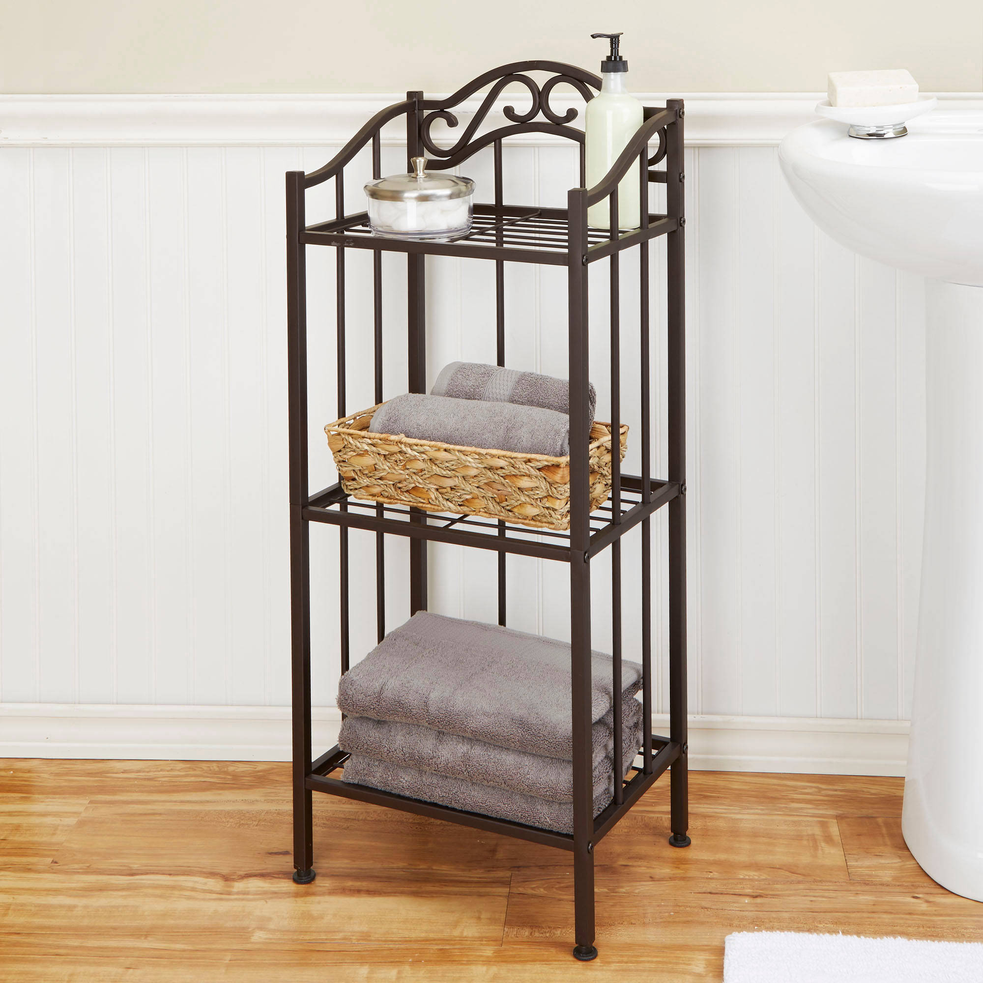 chapter bathroom floor shelf, bronze - walmart