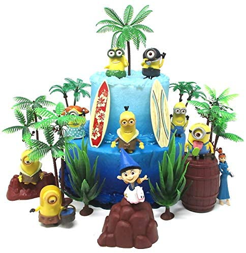 Cake Toppers Despicable Me Minions Themed Birthday Set Featuring Figures And Decorative Themed Accessories Walmart Com Walmart Com