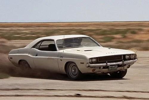 vanishing point 1970 dodge challenger racing in desert car 24x36 poster