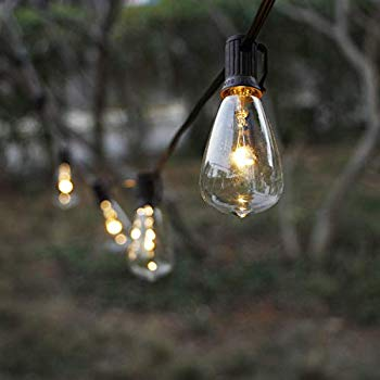 solar string lights outdoor patio lights string waterproof with 6 classic st38 led edsion bulbs perfect for garden backyard pergola party cafe