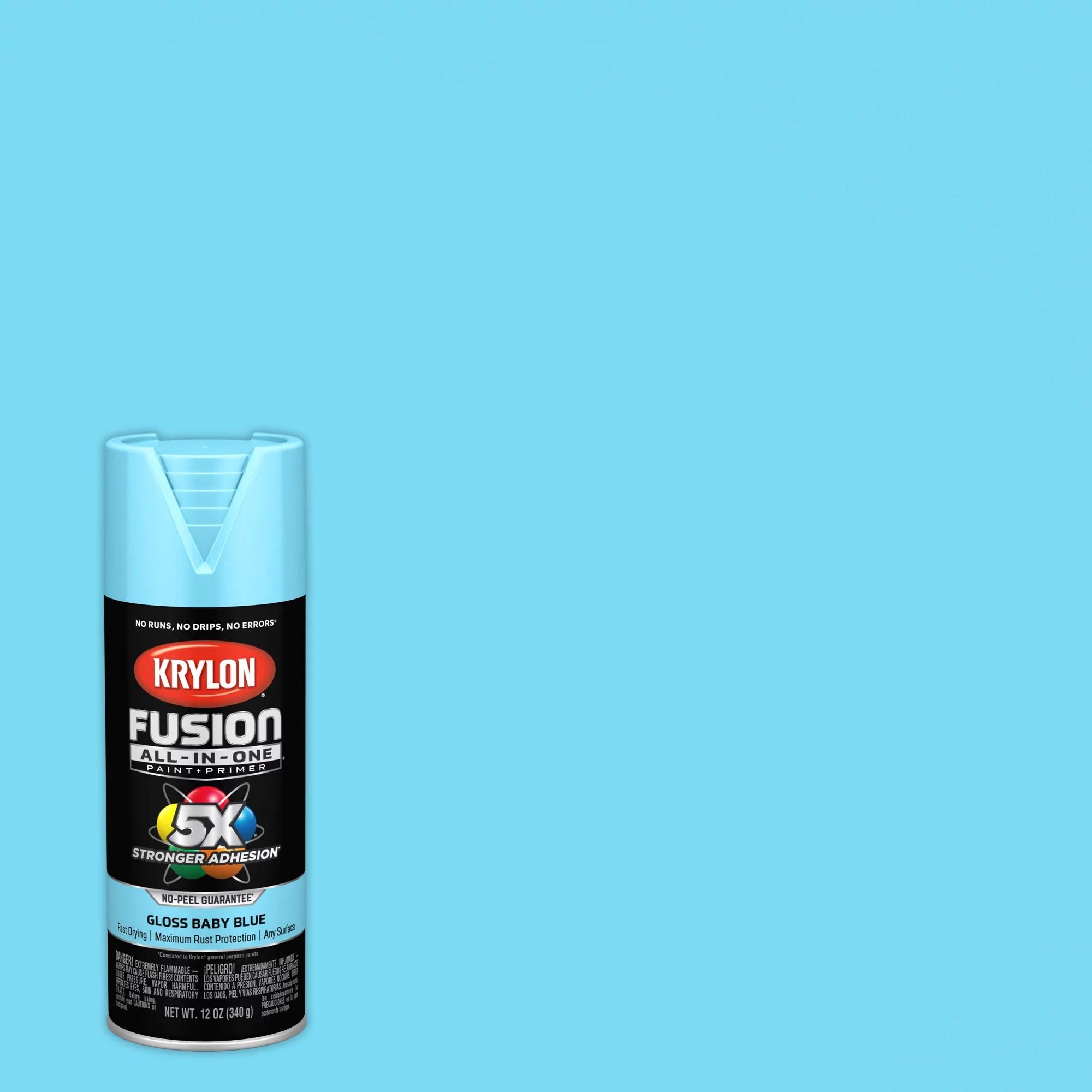 krylon fusion all in one spray paint satin beach glass 12 oz