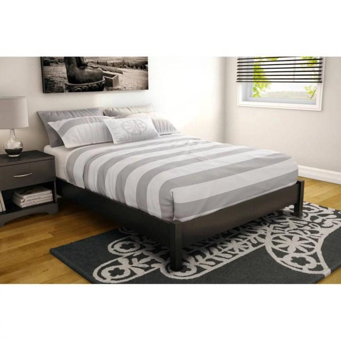 Premier Pia Metal Platform Bed Frame Queen With Bonus Base Wooden Slat System