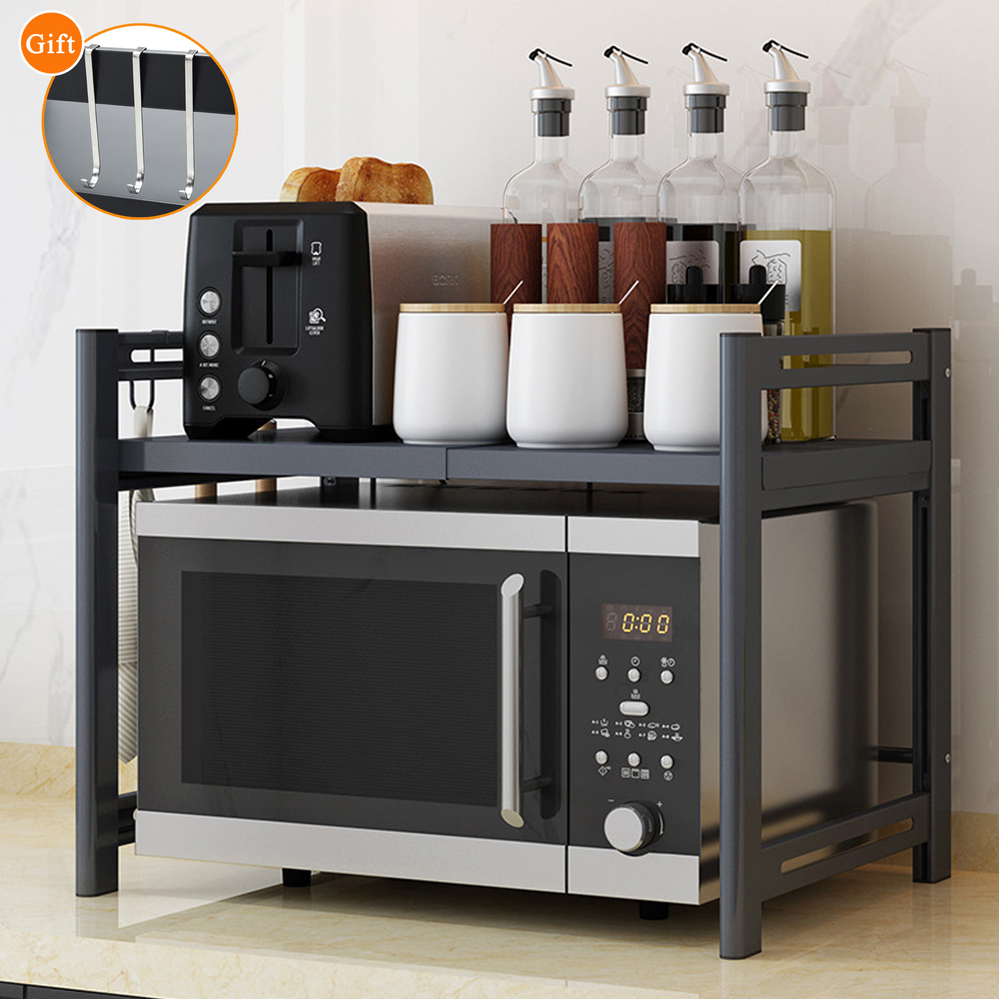 nk metal microwave oven stand rack 2 layers storage racks kitchen cabinet counter shelf counter shelf organizer microwave oven rack