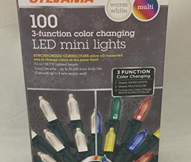Stay Lit Platinum  Color Changing Led Mini Lights Warm White Multi