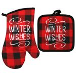 Oven Mitts And Pot Holders With Kitchen Towels Set Oven Mitts And Pot Holders Sets Christmas Kitchen Towels Walmart Com Walmart Com