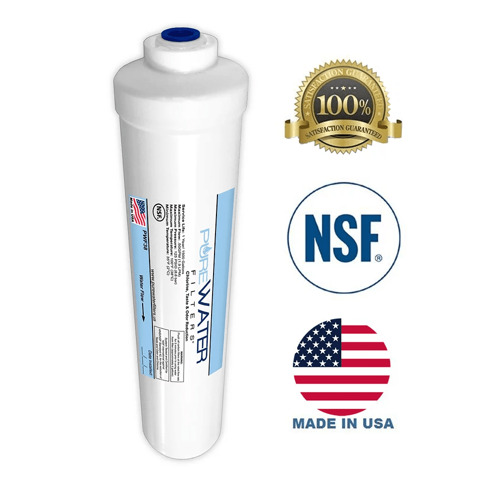 inline water filter replacement for under sink filter kits 3 8 inch