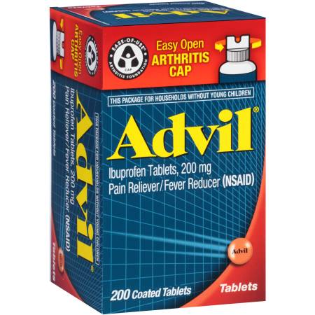 Advil Easy Open Arthritis Cap Pain Reliever / Fever Reducer (Ibuprofen ...