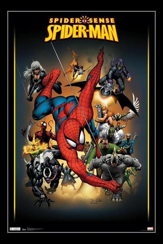 spider man adversaries poster print