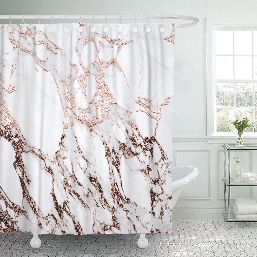 https www walmart com ip atabie pink luxury marble stone copper carrara gray red glam shower curtain 60x72 inch 266442494