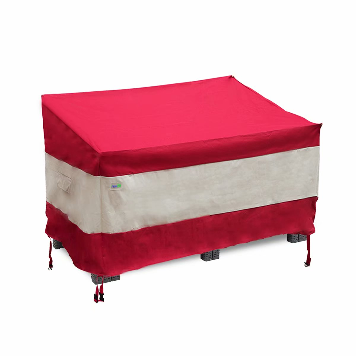hgmart patio furniture covers 100 waterproof outdoor lawn heavy duty sofa cover with air vent and stable strap size 58x33x38inch wine red
