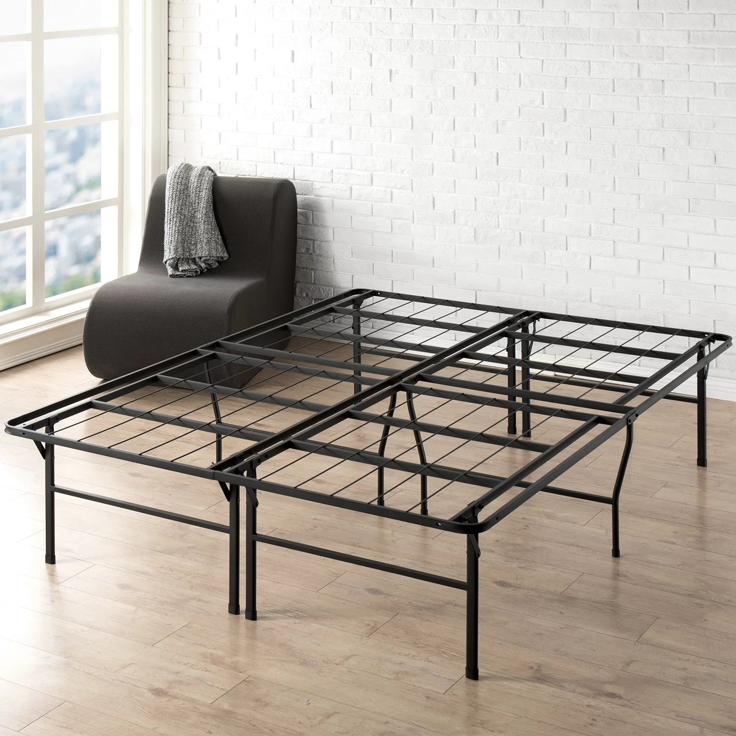Best Price Mattress 18 Inch Metal Platform Bed Frame