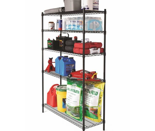 Hyper Tough 48w X 16d X 72h 5 Shelf Heavy Duty Wire Shelving Storage Rack Black Walmart Com