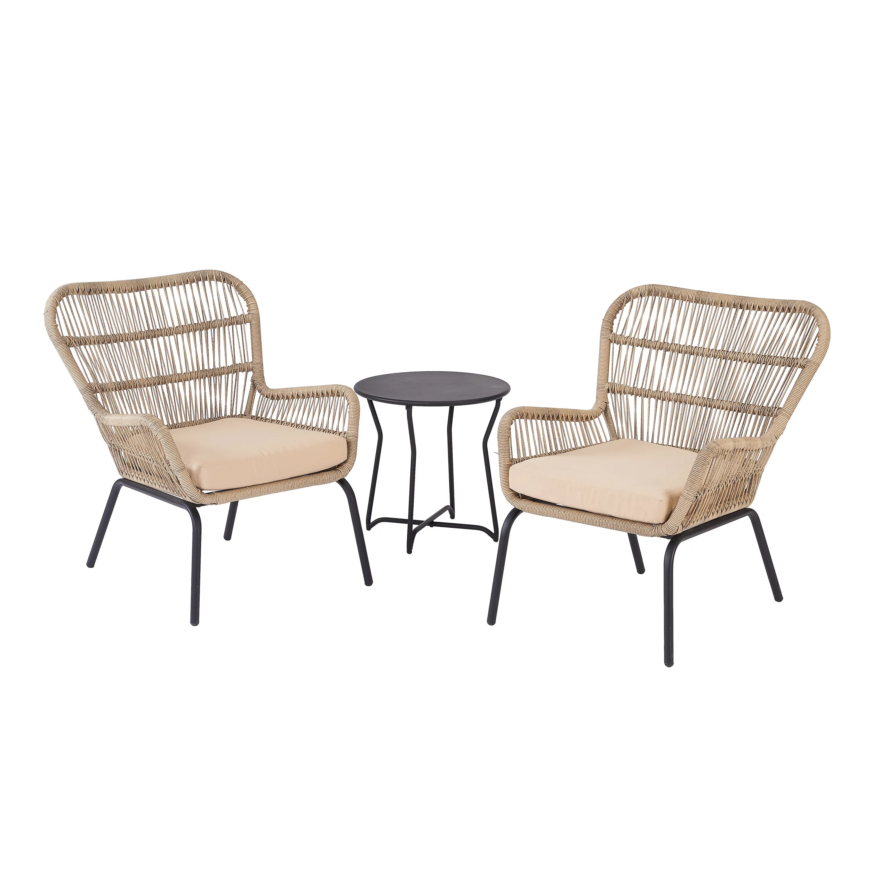 mainstays adina bay outdoor patio furniture 3 piece wicker chat set