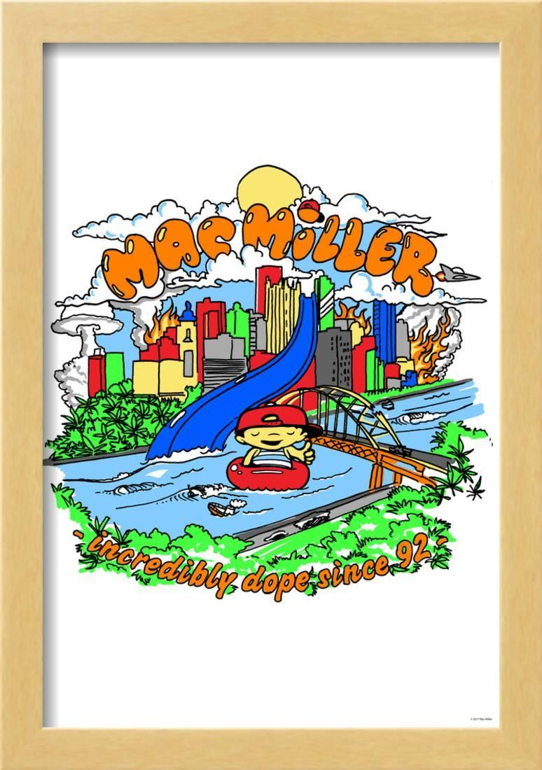 mac miller incredibly dope since 92 framed poster wall art